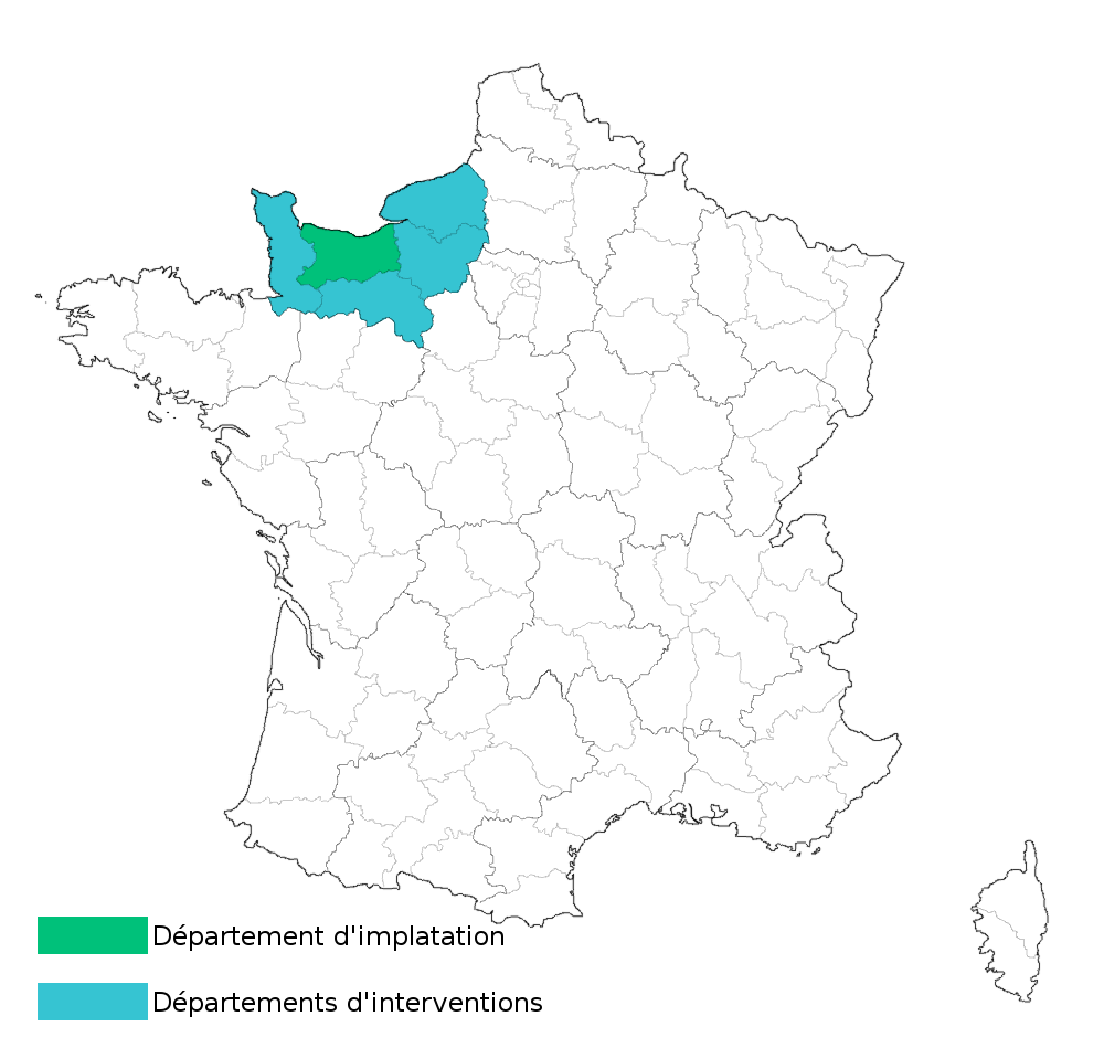 carte de france des zones d'intervention